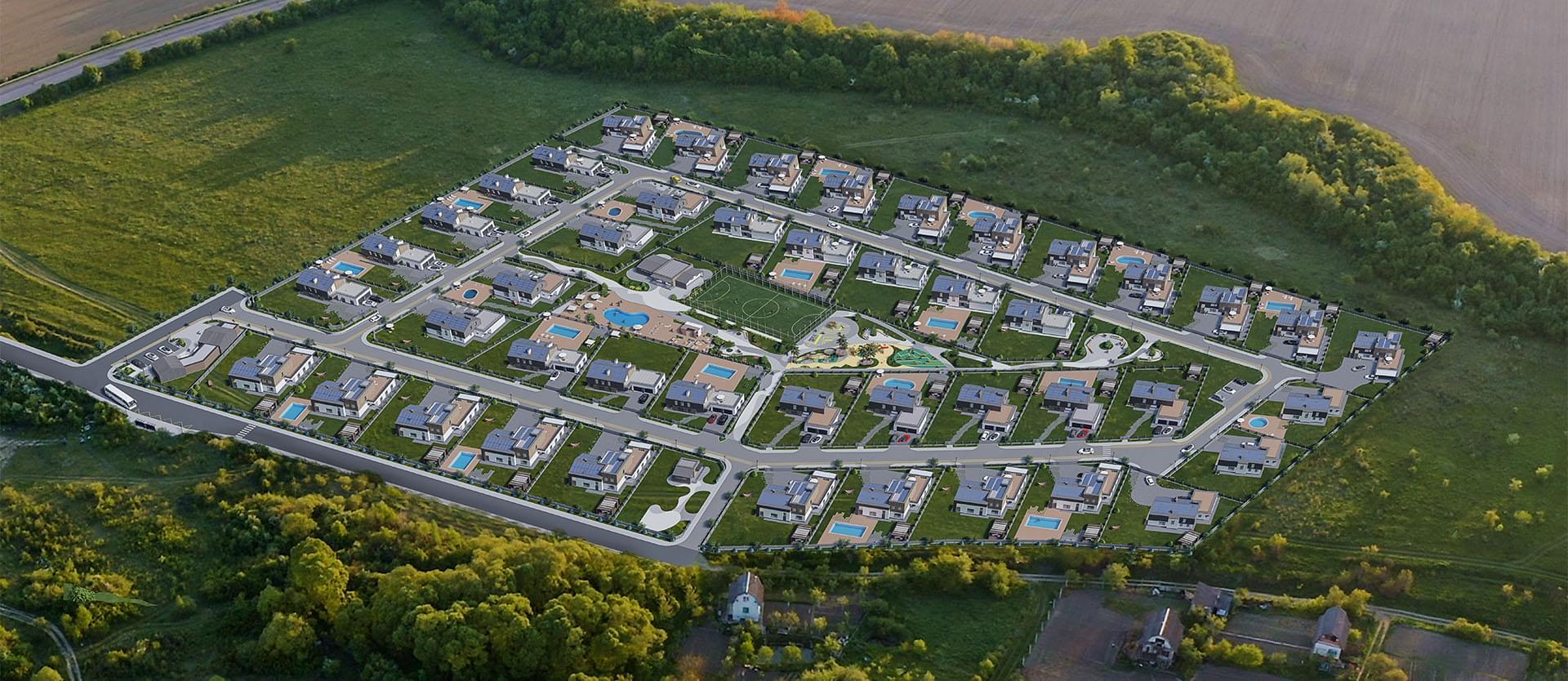 Генплан котеджного містечка OZON Village